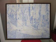 1930's Tile Mural of Lower Manhattan
