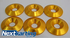 Kart Alloy CSK 30 x 5 x 8mm Seat Washers M8 Gold  x 6 - Tillett - NextKarting