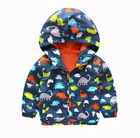 NEW Kid Boys Waterproof Windproof Hooded Rain Coat Jacket Outerwear Clothes CA
