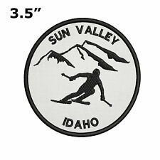 "Sun Valley, Idaho - Extreme Sports Skier 3.5"" Embroidered Iron or Sew-on Patch"