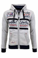 GEOGRAPHICAL NORWAY GOASTING Pullover Sweatjacke Gr. S grau GN13548