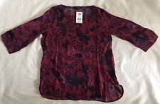 Next Berry Floral Top Sz 14, BNWT.