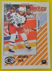 1992-93 Panini Hockey Sticker - JAROMIR JAGR #282  92-93