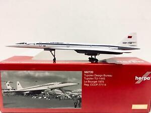 Herpa Wings Tupolev Design Bureau TU-144S LeBourget 1975 1:400 CCCP-77114 562720