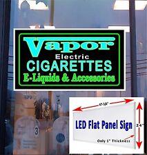LED Sign Vapor E- Cigarette & E-liquids window sign 48x24 neon banner alternati