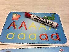 ABC Tracing Set - 26 Wipe n Write Laminated Cards. 5.5X8.5 Preschool  Homeschool