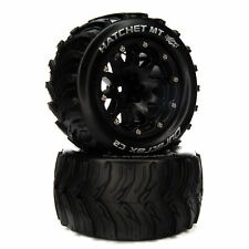 """Duratrax Hatchet MT Belted 2.8"""" Mounted Front/Rear Tires 14mm Black (2)"""