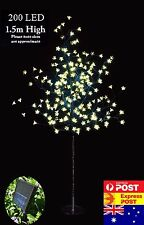 2x 1.5M 200LED WARM WHITE CHERRY BLOSSOM SOLAR CHRISTMAS OUTDOOR TREE(2 TREES)
