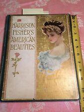 ANTIQUE NOV 1909 HARRISON FISHER AMERICAN BEAUTIES BOOK 21 ILLUST FRAMEABLE