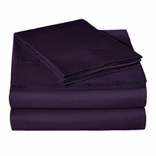 800 THREAD COUNT BED SHEET SET 100%EGYPTIAN COTTON CAL-KING SIZE PURPLE COLOR
