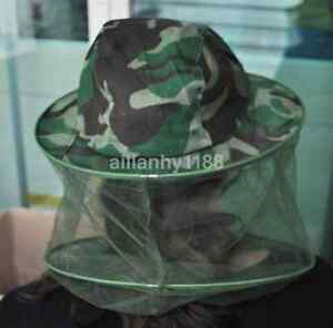 Outdoor Anti-mosquito Mask Hat with Head Net Mesh Face Protection Sun Hat US