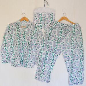 Indian Cotton Pyjamas Set Nightwear Fabric Light Night Dress Floral Night Suit