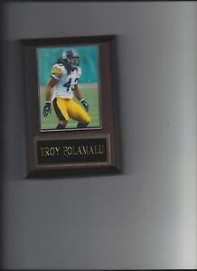 TROY POLAMALU PLAQUE PITTSBURGH STEELERS FOOTBALL NFL