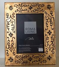 5 X 7 Hand Painted Antique Gold Easel Back  Photo Frame