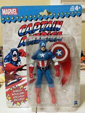 Marvel Legends 6? Retro Vintage Wave Captain America On Mint Card See Pics