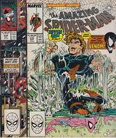LOT OF 2 AMAZING SPIDER-MAN # 314 # 315  VF/NM 1ST PRINTS  MCFARLANE  CENTS 1989