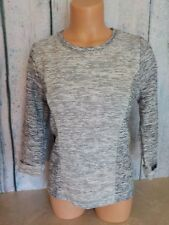 Chicos Marled Metallic Long Sleeve Crew Neck Pullover Sweater Gray Size 0 Nwot