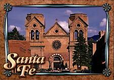 Cathedral St Francis De Assisi Santa Fe New Mexico cross ~ vintage postcard