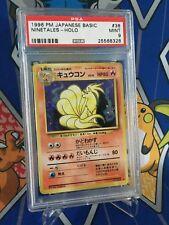 Pokemon PSA 9 MINT Japanese 1996 Base Set Ninetales Holo Rare Card #38