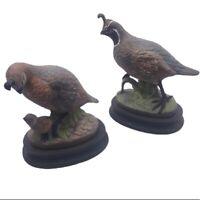 Vintage Quail Ceramic Decorative Figurines