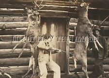 ANTIQUE DEER HUNTER 8X10 REPRODUCTION PHOTO WOMAN WITH SAVAGE MODEL 99 RIFLE