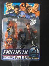 Fantastic Four 4 Movie Snowboarding Human Torch Figure