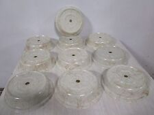 """Lot Of (10) """"Cambro"""" Heavy Duty Commercial Stackable 10"""" Plate Dome Cover/Lids"""