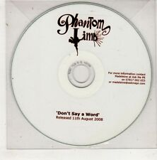 (HB949) Phantom Limb, Don't Say A Word - 2008 DJ CD