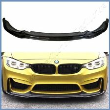 V Type Carbon Fiber Front Extend Lip Body Kit For 15-17 BMW F80 M3 F82 M4 Bumper