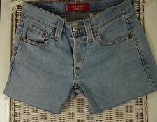 "LEVI'S Low Slouch Stretch Shorts Junior Size 0 29""W Cut-Offs Fringed Hotpants"