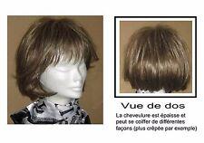 PERRUQUE ELITE Santé HAIR châtain blond foncé méché cheveux courts mi-longs beau