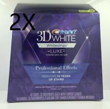 2X Crest 3D Whitestrips Whitening Professional Effects 20 Pouches 40 strips