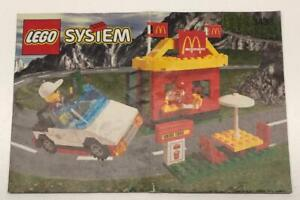 Lego 3438 Instruction Booklet -MANUAL ONLY- McDonald's Restaurant Classic Town