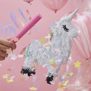 UNICORN PINATA - Birthday Party Game/Decoration (27cm Tall) - FULL RANGE IN SHOP