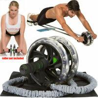 Ab Roller Wheel Pull Rope Taille Bauch Abnehmen Fitness-Trainingsgeräte fg Neu