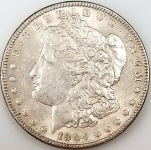 1904 Morgan Silver Dollar! Only 2,788,000 minted! NO RESERVE!