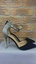 Atmosphere Shoes Size 7 black/cream part snake print cocktail/party
