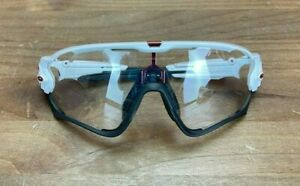 Oakley Jawbreaker OO9290-05 Polished White Cycling Sunglasses Clear Lens