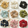 1×Summer Floral Hair Scrunchies Bun Ring Elastic Fashion Sports Dance Scrunchie