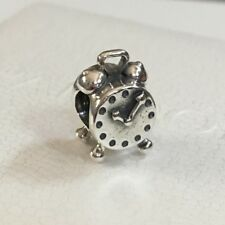 RETIRED Authentic Pandora Sterling Silver S925 ALE Alarm Clock Charm 790449