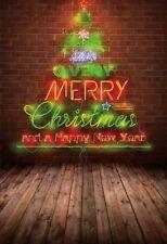 4x6Ft Red Brick Wall Christmas Lights Vinyl Backdrop Photo Photography Studio
