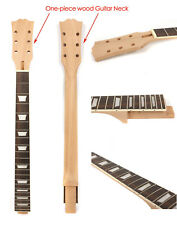 Mahogany wood Electric Guitar Neck Replacement 22 Fret 24.75 Inch Set In #US