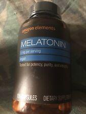 Amazon Elements Melatonin 5mg, Vegan, 195 Capsules Sealed