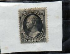 us scott # 190 30c black vf used 1879 american bank note co.