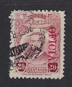 MEX 1921 20c PINO SUAREZ OFFICIAL ISSUE STAMP  SC#0160 CV$2+(al330)