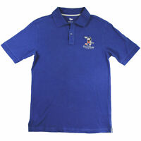 Walt Disney Studios Mickey Mouse Polo Shirt Blue Embroidered Men's Small NWT