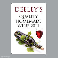 8 x Personalised Homemade Wine Making Bottle Labels Stickers home brew -N333