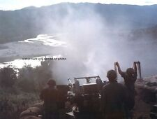"Firing a Quad 50 Machine Gun during Operation Pershing 8""x 10"" Vietnam Photo 127"