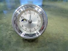 Vintage Ultra Rare MoonPhase GMT DST World Time Zones Travel Alarm Clock Pilot