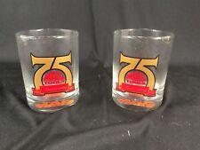"""(2) Mac Tools 75th Anniversary 4"""" Bar Glasses Set of 2 NIB K4873"""